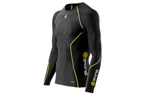 Skins A200 Men's Long Sleeve Compression Top black/yellow